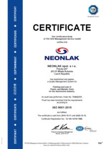 CERTIFIKACE ISO 9001, ISO 14001